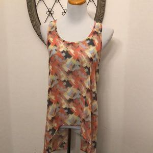 Lush sleeveless blouse size small